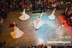 The Mevlevi, (Whirling Dervishes) performing the Sufi dance, Istanbul, Turkey, Europe