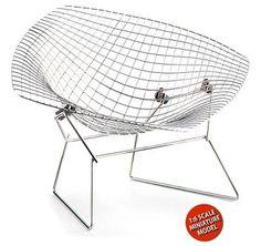 Diamond Chair designed in 1952  by Harry Bertoia