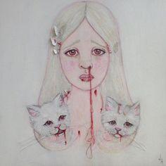 Disturbing Portraits | Jessicka Addams's Disturbing Paintings Capture Lost Innocence