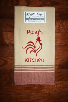 personalized rooster kitchen decor rooster kitchen by FARMDesigns