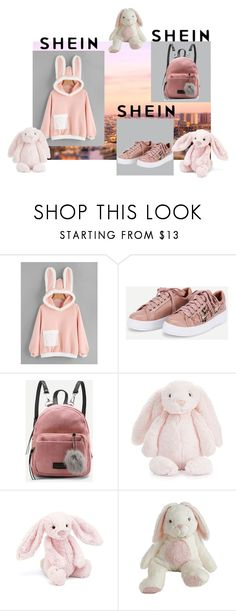 """""""bunny"""" by poniopo ❤ liked on Polyvore featuring Jellycat"""