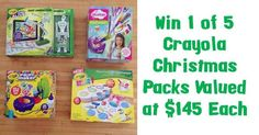 Enter below for your chance to score 1 of 5 amazing Christmas packs from Crayola valued at $145 each!  Win 1 of 5 Crayola Packs Valued at $145 Each