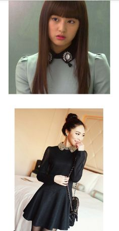 (The Heirs) Nancy dress share same style of the collar dress Rachel is wearing. Kdrama / Korean Dramas www.asianoutfitter.com