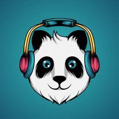 Panda Lindo, Panda Bebe, Cute Panda Wallpaper, Panda Wallpapers, Vector Free, Banner, Music, Prints, Anime