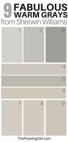 Amazing Warm Gray Paint Shades from Sherwin Williams 9 amazing warm grays from Sherwin Williams - best greige shades of paintGrey (disambiguation) Grey or gray is a neutral color between black and white. Grey, greys, gray, or grays may also refer to: Most Popular Paint Colors, Best Gray Paint Color, Greige Paint Colors, Exterior Paint Colors, Warm Gray Paint Colors, Neutral Gray Paint, Gray Brown Paint, Gray And Brown, Wall Colors