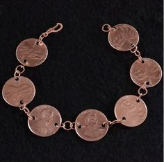 Jewelry making idea with coins & pennies: Penny Bracelet Tutorial by Allison of Dream a Little Bigger