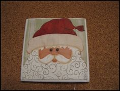 Cute, Inexpensive, and Easy Christmas Gifts - Beneath My Heart. Tile and Christmas Napkins for coasters.