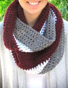 WSU Infinity Scarf Washington State University by CrochetsbyShell, $25.00
