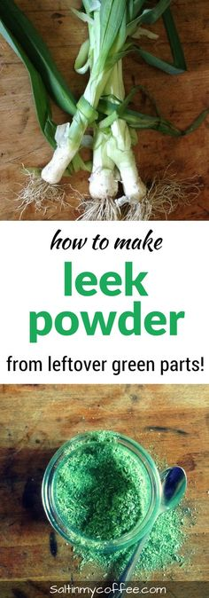 You can make nutritious leek powder from leftover green parts! Here's how!!