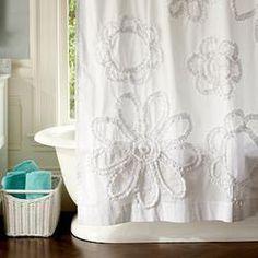 Ruffle Flower Shower Curtain  $69.50