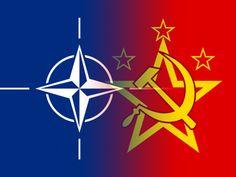 Allebij hadden hun eigen vlag:  Linker kant van VS enzo.  Rechter kant van Sovjet unie.
