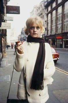 Goldie Hawn in London for filming There's A Girl In My Soup, photographed by Terry O'Neill, 1970.