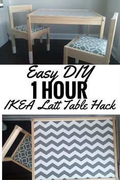 Easy DIY 1 Hour IKEA Latt Table Hack - so adorable, seriously trying this!