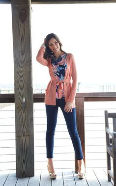 Love the shirt underneath the cardigan. Can't wait to see Lilly's Fall '13 line.