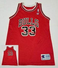 Chicago Bulls Scottie Pippen #33 Champion NBA Basketball Jersey Youth XL 18-20 #Champion #ChicagoBulls Scottie Pippen, Basketball Jersey, Chicago Bulls, Champion, Youth, Young Adults, Teenagers