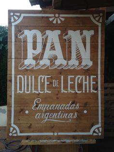 tipografía, lettering, typography, signpainting, pintado a mano, rotulismo, pizarra, menu, vintage, painted, handmade, hecho a mano, pan, madera, wood