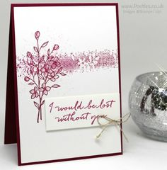Stampin' Up! Demonstrator Pootles - Single Colour Stamping with Touches of Texture