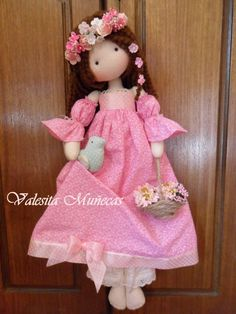 Valesita Muñecas sweet dress and doll Bjd Doll, Doll Toys, Rag Dolls, Fabric Dolls, Paper Dolls, Sewing Dolls, Waldorf Dolls, Soft Dolls, Doll Crafts