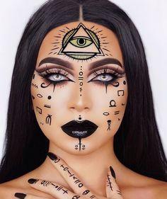 6120 Me gusta 37 comentarios Baby Face Hunters ( en Instagr Rave Makeup, Scary Makeup, Witch Makeup, Sfx Makeup, Zombie Makeup, Alien Makeup, Halloween Makeup Clown, Amazing Halloween Makeup, Halloween Makeup Looks
