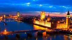 The city lights of London, England at night - Avoya Travel Article: '2014 Must-Visit Places in the Caribbean & Europe'