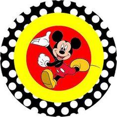 Mickey Tradicional – Kit Completo com molduras para convites, rótulos para guloseimas, lembrancinhas e imagens! | Fazendo a Minha Festa
