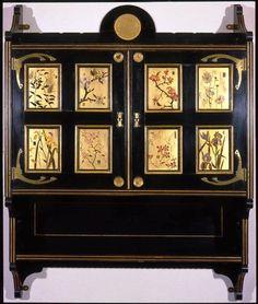 Painted and Ebonised Cabinet Victorian Furniture, Victorian Gothic, Antique Furniture, Aesthetic Movement, Aesthetic Style, Dream Furniture, Furniture Design, Importance Of Art, William Morris Art