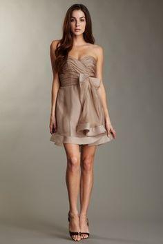 A.B.S Silk Sweetheart Bow Dress