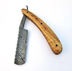 Beautiful Custom Handmade Damascus Steel Straight Razor