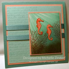 Seahorses by Zindorf - Cards and Paper Crafts at Splitcoaststampers