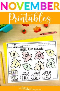 Just the printables! These printable activities are from my November Math and Literacy Centers. They are great to help your students practice math and literacy skills while also working on fine motor skills. They do not need prepped and laminated. You can staple them into packets or send home if needed. Kindergarten fun printables for math and literacy subjects. Use in centers. Math Literacy, Literacy Skills, Literacy Centers, Number Sense Activities, Miss Kindergarten, Daily Math, Ten Frames, Cvc Words, Morning Work