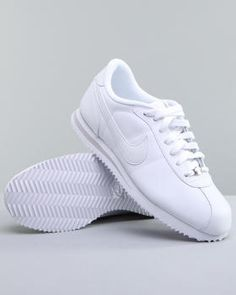 all white nike cortez