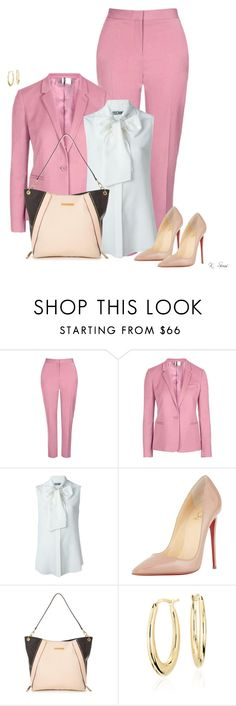 """Boss"" by ksims-1 ❤ liked on Polyvore featuring Topshop, Moschino, Christian Louboutin, Little Mistress and Blue Nile"