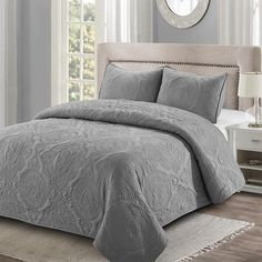 Shop North Home Bedding Paris 300 Thread Count Duvet Cover Set at Lowe's Canada. Find our selection of duvet covers at the lowest price guaranteed with price match + off. Quilt Bedding, Bedding Sets, King Size Bedding, Gray Bedding, Paris Bedding, King Quilt Sets, Queen Quilt, Most Comfortable Sheets, Online Bedding Stores