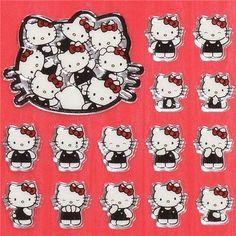 small shiny Hello Kitty stickers Japan kawaii