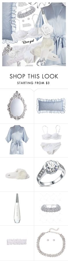 """ROSEGAL delicate white lingerie"" by vn1ta ❤ liked on Polyvore featuring Pier 1 Imports, Pine Cone Hill, Fleur of England, Issey Miyake and L'Agent By Agent Provocateur"