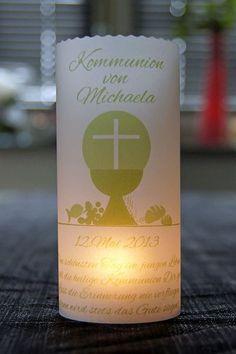 Dekoration - ♥ Lichthülle Kommunion Tischdeko Windlicht - ein Designerstück von marion-designisch bei DaWanda