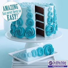Take a Wilton Method of Cake Decorating Class and learn how easy it is to decorate amazing sweet treats! http://www.wilton.com/classes #cakedecorating #wiltoncakes