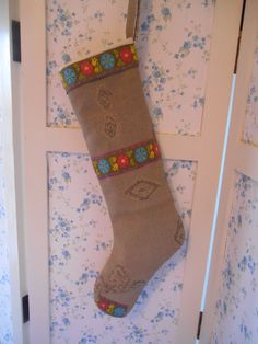 Embroidered stocking!