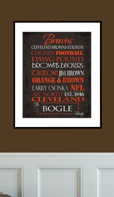 Cleveland Browns Print by SportingStandouts on Etsy, $40.00