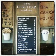 Donut Bar - 631 B Street. Have to check it!