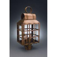 Northeast Lantern Lynn 2 Light Lantern Head Finish: Dark Brass, Shade Type: Clear Seedy
