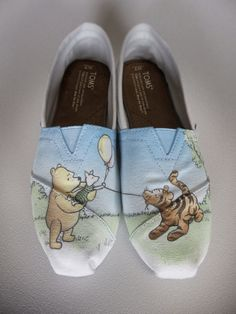 wholesale dealer 45006 7fd0e Disney Vintage Winnie the Pooh Toms by ZacharyConnellyArt Disney Toms Shoes,  Cheap Toms Shoes,