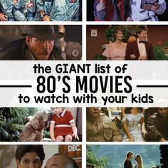 The 80's were weird. But they gave us some awesome movies. These are the movies that you have to watch with your kids before they grow up!
