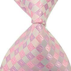 Man's Stylish Stripes Woven Tie Necktie – USD $ 5.59