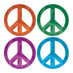 18 inch peace signs for the wall or table centerpieces.