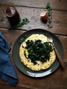 Open Face Kale Omelette | Free People Blog #freepeople