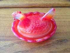 Vintage Boyd Mini hen on nest open salt dip by GloriousGlassware, $14.95