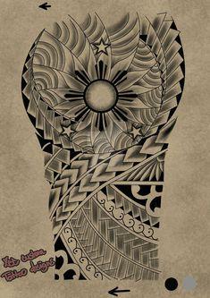 Tattoo request design Maori 3 stars and the sun by on DeviantArt Maori Tattoos, Tattoo Maori Perna, Maori Tattoo Frau, Hawaiianisches Tattoo, Polynesian Tribal Tattoos, Filipino Tribal Tattoos, Maori Tattoo Designs, Tribal Sleeve Tattoos, Marquesan Tattoos