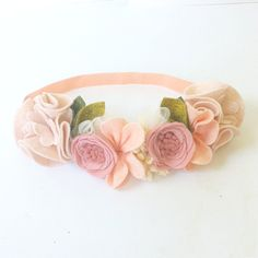 PEACHES CREAM // Felt Flower Crown // Mini от fancyfreefinery