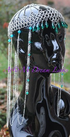 Chain maille headpieces headpiec, chain maill, chainmaill